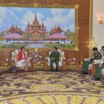 Senior General Min Aung Hlaing receives UNSG's Special Envoy on Myanmar Ms. Christine Schraner Burgener