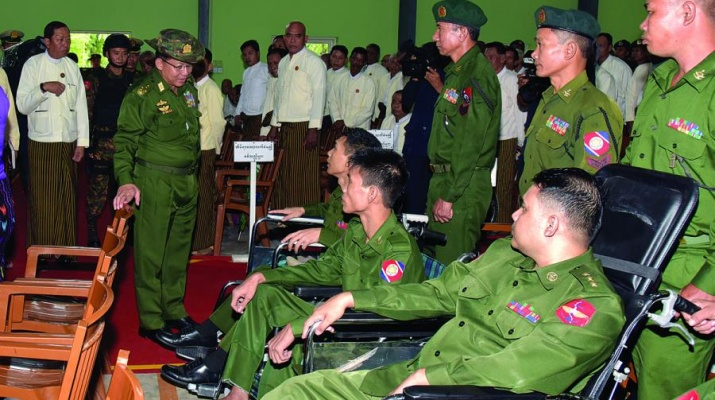 117e08f5bc7 Senior General Min Aung Hlaing addresses ceremony to hand over apartments  of advanced War Veterans Housing (Yangon-1 2) in Myaingthaya and  Kyetphyukan and ...