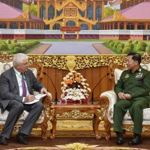 Senior General Min Aung Hlaing receives Mr. ALEXEI CHEPA, Deputy Head of State Duma Committee on Foreign Affairs of the Russian Federation