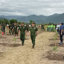 Families of Office of the Commander-in-Chief(Army, Navy and Air) hold second monsoon tree-growing ceremony for 2018