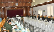 Senior General Min Aung Hlaing attends Choice of Arms ceremony of the 61st Intake of Defence Services Academy, meets professors, officer lecturers and faculty members of DSA