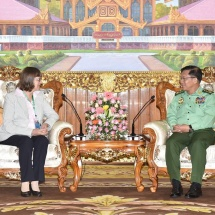 Senior General Min Aung Hlaing receives German Ambassador to Myanmar H.E. Mrs.Dorothee Janetzke-Wenzel
