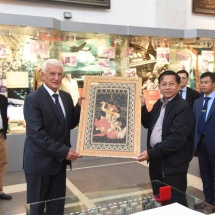 Senior General Min Aung Hlaing visits Central Armed Forces Museum in Moscow, Russian Federation