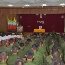 Tatmadawmen are to perform their duties for the country as citizen and serviceman as they are born of the people