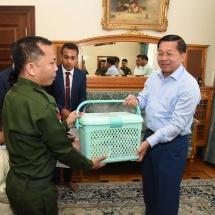 တပ်မတော်ကာကွယ်ရေးဦးစီးချုပ် ဗိုလ်ချုပ်မှူးကြီး မင်းအောင်လှိုင် ရုရှားဖက်ဒရေးရှင်း နိုင်ငံဆိုင်ရာ မြန်မာစစ်သံ (ကြည်း၊ရေ၊လေ)ရုံးမှ မိသားစုများအားတွေ့ဆုံအမှာစကား ပြောကြား