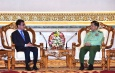 Senior General Min Aung Hlaing receives Minister of Foreign Affairs of Japan H.E.Mr. Taro KONO