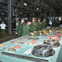 Senior General Min Aung Hlaing inspects Defence Services Heavy Industry (Yangon)