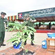 ကာကွယ်ရေးဦးစီးချုပ်ရုံး(ကြည်း၊ရေ၊လေ) မိသားစုများ၏ တတိယအကြိမ်မိုးရာသီသစ်ပင်စိုက်ပျိုးပွဲ အခမ်း အနားကျင်းပ