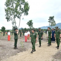 Families of Office of the Commander-in-Chief (Army, Navy and Air) hold third monsoon tree-planting ceremony