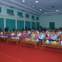 Senior General Min Aung Hlaing watches 17th inter-military performing arts, dramatic performance, play and magic show contests organized by Directorate of Public Relations and Psychological Warfare of Office of the Commander-in-Chief (Army)