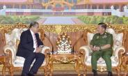 Senior General Min Aung Hlaing receives outgoing Thai ambassador