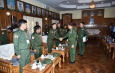 Senior General Min Aung Hlaing meets ethnic leaders, leaders of people's militia (local) of North-East Command area