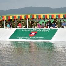ရေဆင်းဆည်အတွင်းသို့ တပ်မတော်(ကြည်း၊ရေ၊လေ) မိသားစုများက ငါးမျိုးများ စိုက်ထည့်ပေး