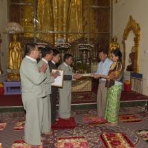 Senior General Min Aung Hlaing pays homage to Shwephonepwint, Culamuni pagodas in Taunggyi