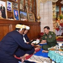 တပ်မတော်ကာကွယ်ရေးဦးစီးချုပ် ဗိုလ်ချုပ်မှူးကြီးမင်းအောင်လှိုင် ပအိုဝ်းငြိမ်းချမ်းရေးအဖွဲ့(PNO)အသွင်ပြောင်းပြည်သူ့စစ်ဌာနေအဖွဲ့နာယကဦးအောင်ခမ်းထီ နှင့်တွေ့ဆုံ၊ ကယားပြည်နယ်ရှိတိုင်းရင်းသား ခေါင်းဆောင်များအား တွေ့ဆုံ