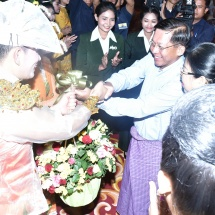 Senior General Min Aung Hlaing enjoys performances of servicemen, servicewomen awarded in 17th inter-military performing arts, Anyeint, drama and magic contests