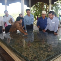 Senior General Min Aung Hlaing and Tatmadaw goodwill delegation visit ancient and historic Wat Phu Temple in Champasak Province, Laos