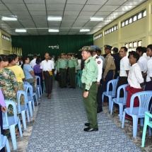 Senior General Min Aung Hlaing meets departmental personnel, local people in Coco Island Township