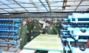 Senior General Min Aung Hlaing attends Choice of Arms ceremony of the fifth Intake of Graduate Female Cadets of Defence Services (Army) Officers Training School (Hmawby)