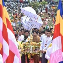SHWEHTIDAW HOISTING AND CONSECRATION CEREMONIES OF THE THABYENYINAUNG AUNG ZEYA MUNI PAGODA HELD