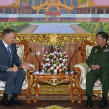 Senior General Min Aung Hlaing receives Ambassador of the Russian Federation to Myanmar