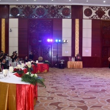 Senior General Min Aung Hlaing attends dinner hosted by Minister of National Defence of Laos Lieutenant General Chansamone CHANYALATH