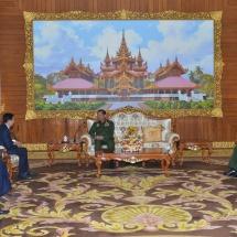 Senior General Min Aung Hlaing receives Chief Executive Officer of Telecom International MYANMAR Co., Ltd. (Mytel)