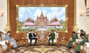 Senior General Min Aung Hlaing receives Ambassador of Israel H.E. Mr. Ronen Gilor