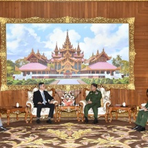 Senior General Min Aung Hlaing receives Ambassador of Israel H.E. Mr. Ronen Gilor
