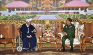 Senior General Min Aung Hlaing receives Patron of Pa-O National Organization (PNO) Transformed People's Militia Group U Aung Hkam Hti, holds talks about regional development