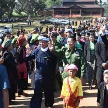 Senior General Min Aung Hlaing visits ancient historic Mwaydawkatku Pagoda, Inlay Phaungdaw-U Pagoda,cordially meets ethnic locals