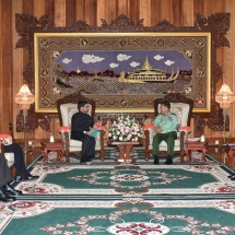 Senior General Min Aung Hlaing receives Ambassador of India to Myanmar H.E. Mr. Vikram Misri
