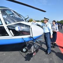 တပ်မတော်(လေ)၏ဖွဲ့စည်းတည်ထောင်မှု(၇၁)နှစ်ပြည့်မြောက်၊ နိုင်ငံတော်ကာကွယ်ရေးအတွက် လေတပ် စွမ်းပကားဖြည့်တင်း၊ လေယာဉ်ရဟတ်ယာဉ်များ တပ်တော်ဝင်အခမ်းအနားကျင်းပ