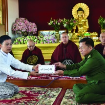 Second cash donation ceremony for construction of Thata Thattaha Mahabodhi Pagoda held in Kengtung