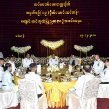 Senior General Min Aung Hlaing attends graduation dinner of 19th Intake of DSMA