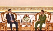 Senior General Min Aung Hlaing receives secretary of Yunnan Province Party Committee