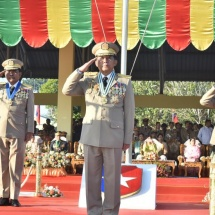 Servicewomen (officers) are being turned out continuously for their participation in national defence duty