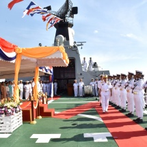 Tatmadaw (Navy) holds its 71st Anniversary; enhanced naval power to safeguard the territorial waters; efforts being made to become Regional Blue Water Navy; commissioning ceremony of naval ships held