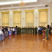 """Senior General Min Aung Hlaing receives Chairman U Ohn Kyaing of Myanmar Press Council and members and the media; """"Statement on Ceasefire and Eternal Peace of the Office of the Commander-in-Chief of Defence Services,"""" released"""