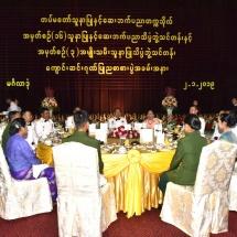 Senior General Min Aung Hlaing attends graduation dinner of 16th Intake of DSINPS, 3rd Intake of Lady Nursing Sciences
