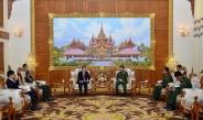 Senior General Min Aung Hlaing receives Ambassador of Laos to Myanmar H.E. Mr. Lyying Sayaxang