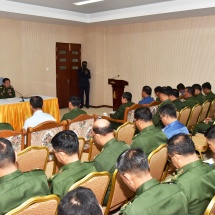 Senior General Min Aung Hlaing meets chairmen and secretaries of Tatmadaw Sports and Physical Education Administrative Committee,Tatmadaw sports committees