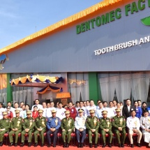 Opening of DENTOMEC toothbrush and toothpaste factory held