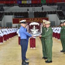 တပ်မတော်ကာကွယ်ရေးဦးစီးချုပ် ဗိုလ်ချုပ်မှူးကြီး မင်းအောင်လှိုင် ၂၀၁၈-၂၀၁၉ ခုနှစ်၊ တပ်မတော်(ကြည်း၊ရေ၊လေ) မြန်မာ့သိုင်းပြိုင်ပွဲဗိုလ်လုပွဲနှင့် ဆုချီးမြှင့်ခြင်းအခမ်းအနား တက်ရောက်၊ တပ်မတော်အားကစားနှင့် ကာယပညာအုပ်ချုပ်ရေးအဖွဲ့နှင့် တပ်မတော်အားကစားကော်မတီများမှ ဥက္ကဋ္ဌများနှင့် အတွင်းရေးမှူးများအား တွေ့ဆုံအမှာစကားပြောကြား၊ မြန်မာ့သိုင်းအဖွဲ့ချုပ်မှ တာဝန်ရှိသူများနှင့် သိုင်းဆရာကြီးများအားရင်းရင်းနှီးနှီးတွေ့ဆုံ(ရုပ်သံသတင်း)