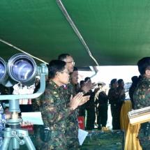 နိုင်ငံတော်အားကာကွယ်စောင့်ရှောက်လျက်ရှိသည့် တပ်မတော်၏နိုင်ငံတော် ကာကွယ်ရေး စွမ်းပကားမြှင့်တင်၊ တပ်မတော်(ကြည်း) (လေ)၊ အမြောက်နှင့်သံချပ်ကာ တပ်ဖွဲ့များ၏ ပူးပေါင်းစစ်ဆင်မှုလေ့ကျင့်ခန်းပြုလုပ်
