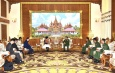 Senior General Min Aung Hlaing receives Japanese State Minister for Foreign Affairs H.E.Ms. Toshiko ABE