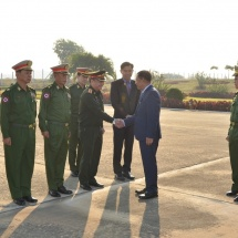 Myanmar Tatmadaw goodwill delegation led by Senior General Min Aung Hlaing leaves for Lao People's Democratic Republic