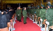 Senior General Min Aung Hlaing meets officers, other ranks and families of Bhamo Station, visits warded soldiers and families