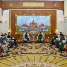 Senior General Min Aung Hlaing receives Ambassador of Australia to Myanmar H.E. Ms. Andrea Faulkner