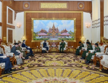 Senior General Min Aung Hlaing receives Ambassador of Australia to Myanmar H.E. Ms. Andrea Faulkner